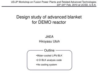 Design study of advanced blanket for DEMO reactor