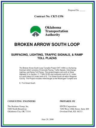 BROKEN ARROW SOUTH LOOP SURFACING, LIGHTING, TRAFFIC SIGNALS, & RAMP TOLL PLAZAS
