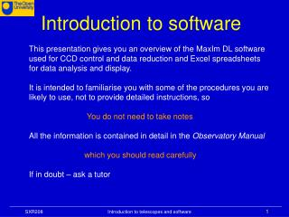 Introduction to software