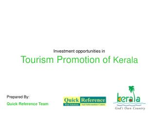 Investment opportunities in Tourism Promotion of  Kerala