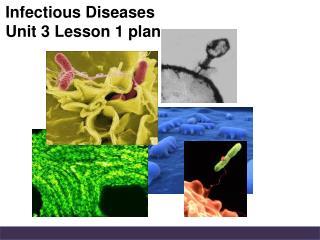 Infectious Diseases Unit 3 Lesson 1 plan