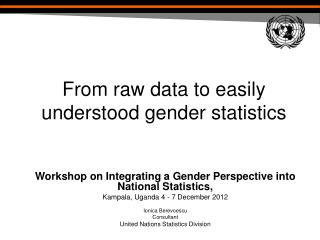 From raw data to easily understood gender statistics
