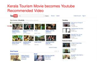 Kerala Tourism Movie becomes Youtube Recommended Video
