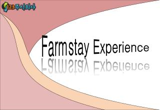 Farmstay Experience