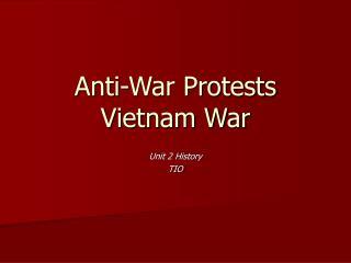 Anti-War Protests Vietnam War