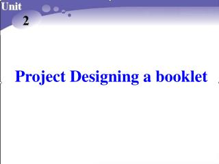 Project Designing a booklet