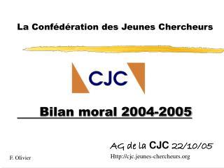 AG de la  CJC  22/10/05