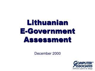 Lithuanian E-Government Assessment