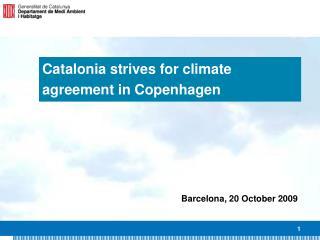 Catalonia strives for climate agreement in Copenhagen