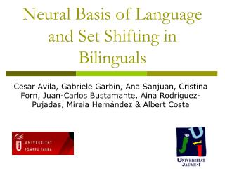 Neural Basis of Language and Set Shifting in Bilinguals