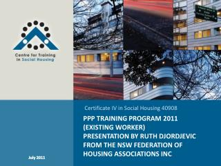 Certificate IV in Social Housing 40908