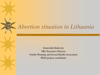 Abortion situation in Lithuania