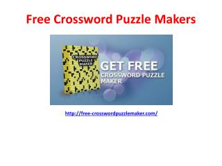 How to make Crossword Puzzles