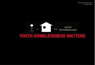A spectrum of support and housing for Young People who are at risk of/or experiencing homelessness