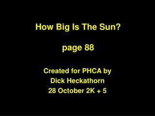 How Big Is The Sun  page 88