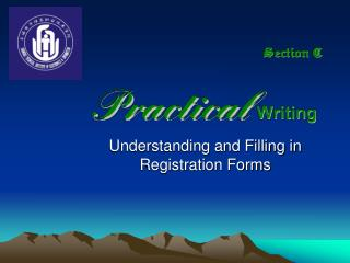 Understanding and Filling in Registration Forms