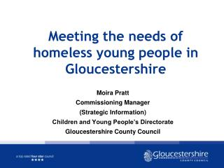 Meeting the needs of homeless young people in Gloucestershire