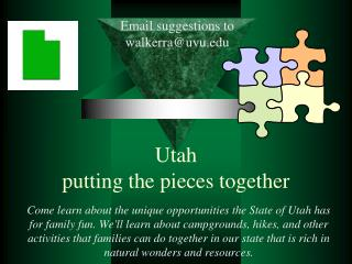 Utah putting the pieces together