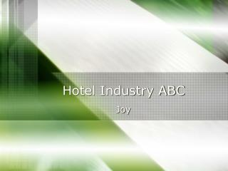 Hotel Industry ABC