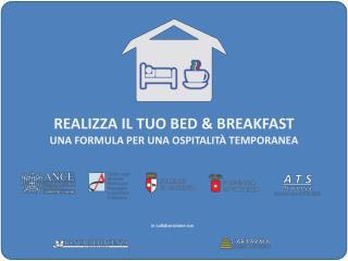 Realizza il tuo bed & breakfast Una formula per una ospitalità temporanea