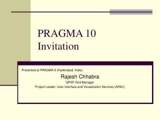 PRAGMA 10 Invitation