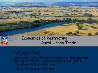 Economics of Restricting                   Rural-Urban Trade