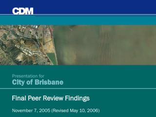 Presentation for City of Brisbane