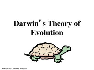 Darwin ' s Theory of Evolution