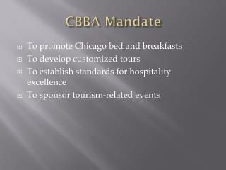 CBBA Mandate