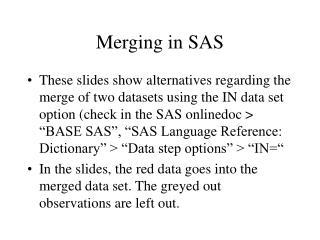 Merging in SAS