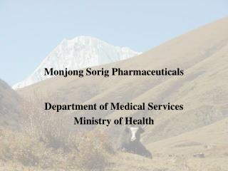 Monjong Sorig  Pharmaceuticals