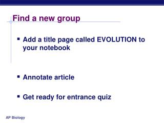 Find a new group