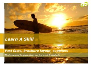 Fast facts, brochure layout, suppliers
