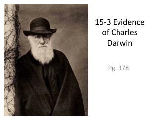 15-3 Evidence of Charles Darwin