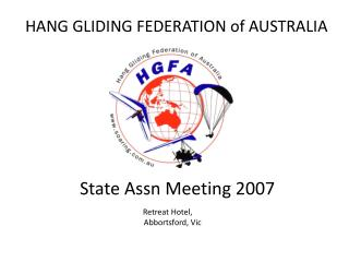 HANG GLIDING FEDERATION of AUSTRALIA