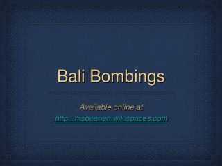 Bali Bombings