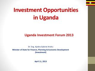 Investment Opportunities in Uganda