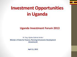 Investment Opportunities in Uganda