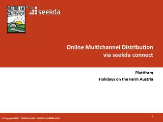 Online Multichannel Distribution  via seekda  connect