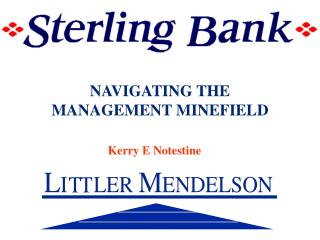 NAVIGATING THE MANAGEMENT MINEFIELD