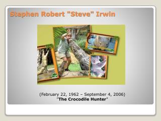 "Stephen Robert ""Steve""  Irwin"