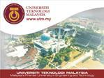UTM -LST Presentation