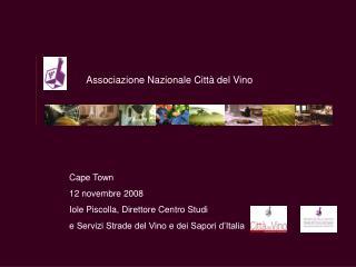 Cape Town 12 novembre 2008 Iole Piscolla, Direttore Centro Studi