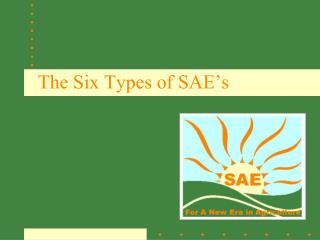 The Six Types of SAE's