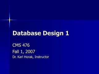 Database Design 1