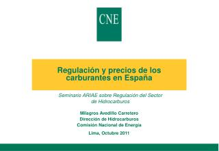 Regulación y precios de los carburantes en España