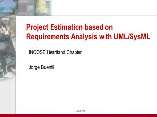 Project Estimation based on Requirements Analysis with UML/SysML