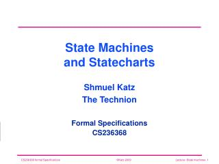 State Machines and Statecharts