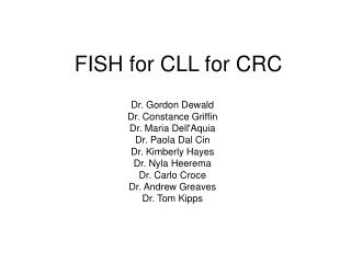 FISH for CLL for CRC