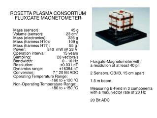 ROSETTA PLASMA CONSORTIUM FLUXGATE MAGNETOMETER